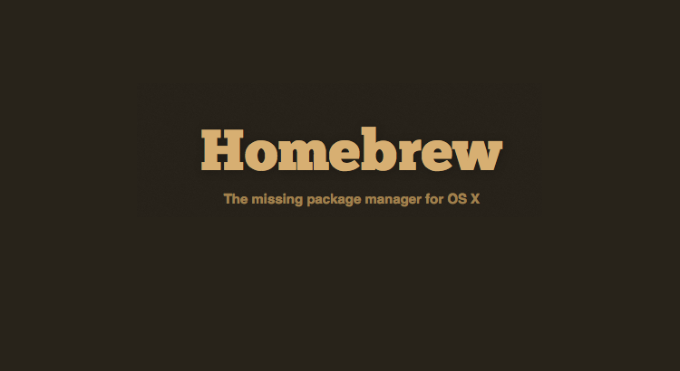 homebrew package management